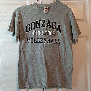 Gonzaga Bulldogs Womens Volleyball Tee Shirt M